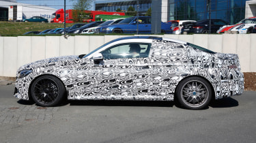 The coupe will go head-to-head with the BMW M4, and feature the same wide body and sportier styling