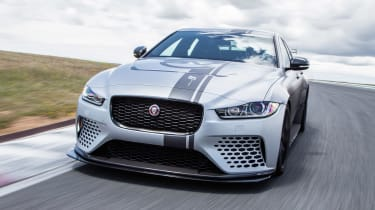 Jaguar XE SV Project 8 - front tracking
