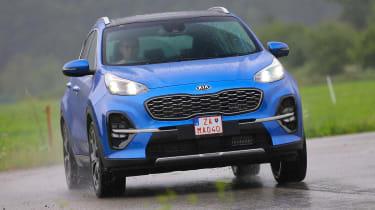Kia Sportage - front cornering