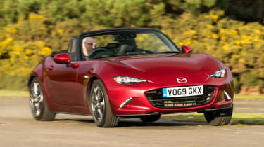 Mazda MX-5 convertible roof down