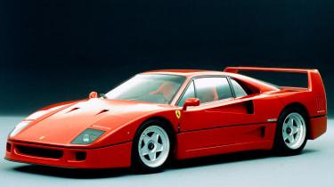 Best cars of the 80s: Ferrari F40 (side)