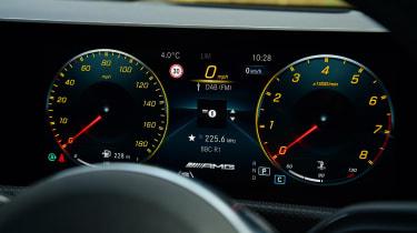 mercedes-amg a35 dashboard instruments virtual cockpit