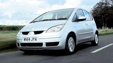 Front view of Mitsubishi Colt