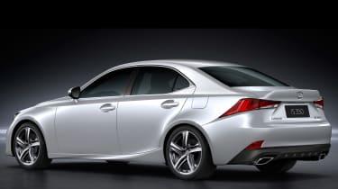 Lexus IS 2016 white rear
