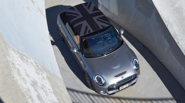 MINI Cooper S Convertible 2016 review - overhead roof up