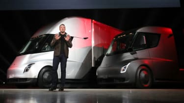 Tesla lorry - electric truck revealed - Elon Musk