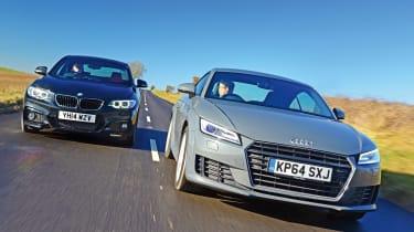 Audi TT Ultra vs BMW 220d M Sport - header