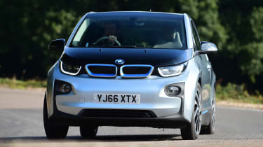 Long-term test review: BMW i3 REx front cornering