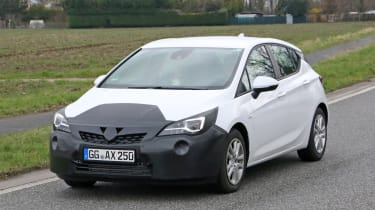 2019 Vauxhall Astra spyshot - front/side