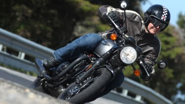 Triumph Bonneville T120 review - front tracking