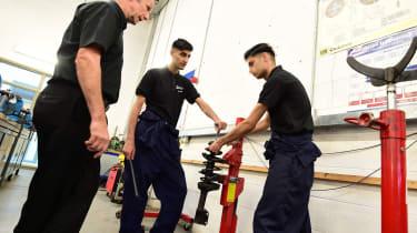 Training to become a mechanic