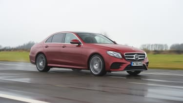 Mercedes E-Class E 220d AMG Line 2017 - front tracking