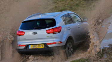 Kia Sportage 1.7 CRDi rear off-road
