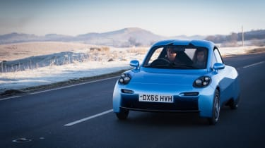 Riversimple Rasa - front three quarters