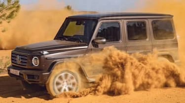 Mercedes G-Class leaked front quarter action