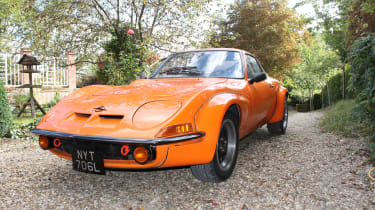 Opel GT orange front