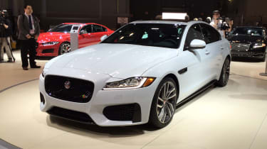 Jaguar XF gets its public debut at the New York Motor Show.