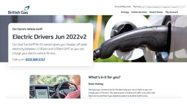 British Gas website