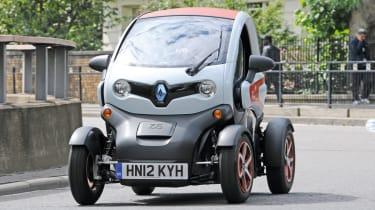 Renault Twizy front cornering