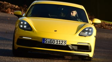 New Porsche Cayman GTS review - straight on