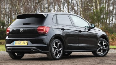 vw polo r-line static rear
