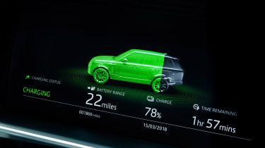 Range Rover PHEV - charging status