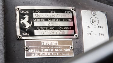 Ferrari 365 GTB/4 Daytona plate