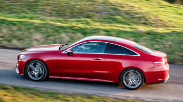 Mercedes E-Class Coupe - UK side tracking