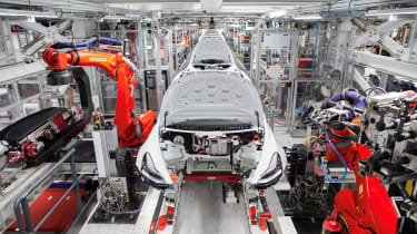 Tesla Factory Tour - production line