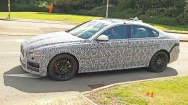 Jaguar XF spy - side