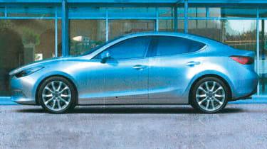 Leaked Mazda 3 saloon static