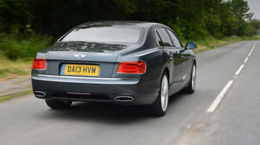 The Bentley comes with a choice of two engines, a 4.0-litre twin-turbo V8 and a 6.0-litre W12.