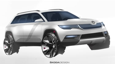 Skoda Karoq drawing