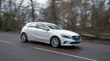 Mercedes A200d front action