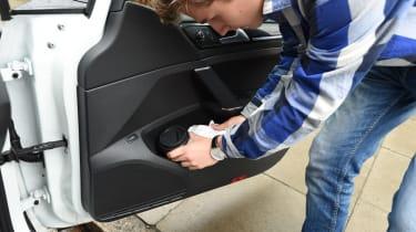 Ultimate guide to car sharing - Zipcar Golf GTE door bin