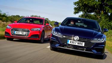 Twin test - VW Arteon vs Audi A5 - teaser