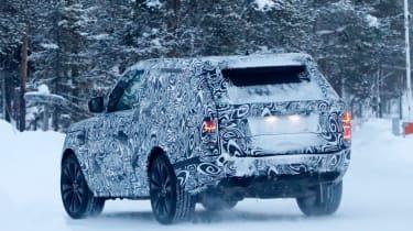 Range Rover Coupe spy shot rear quarter