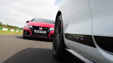Volkswagen Golf GTI Clubsport vs Honda Civic Type R - front