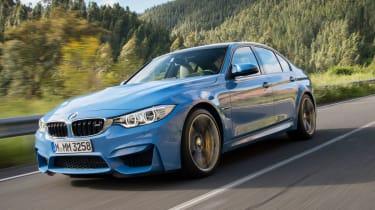 BMW M3 saloon 2014 left front quarter
