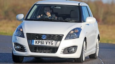 Suzuki Swift Sport matches the trills of the MINI.
