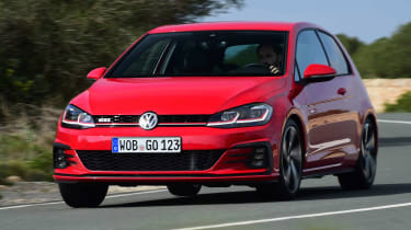 Volkswagen Golf GTI 2017 facelift red - front cornering