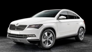 Skoda coupe-SUV rendering - front