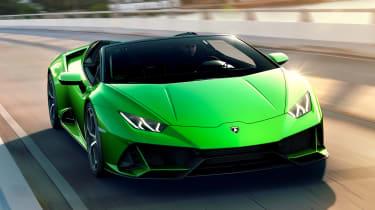 Lamborghini Huracan Evo Spyder - front tracking