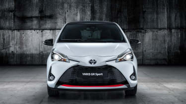 Toyota Yaris GR Sport revealed head on