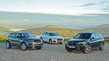 BMW X1 vs Audi Q3 vs Range Rover Evoque