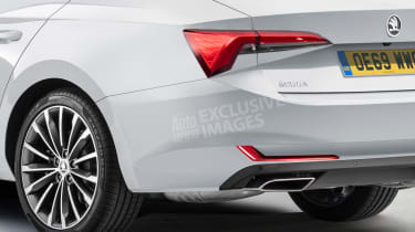Skoda Octavia - rear detail (watermarked)