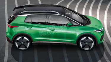 Volkswagen baby electric SUV - side