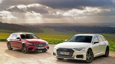 Audi A6 Avant vs Mercedes E-Class Estate - header