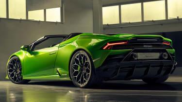 Lamborghini Huracan Evo Spyder - low rear 3/4