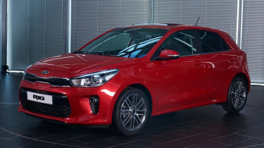 New Kia Rio - reveal event front quarter 2